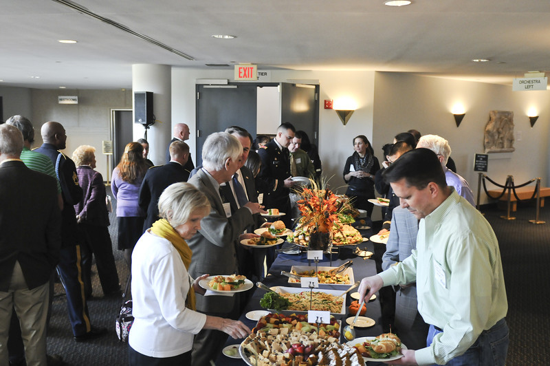 The office of Military Services and ROTC host the annual Veterans Day Luncheon on November 9, 2012.