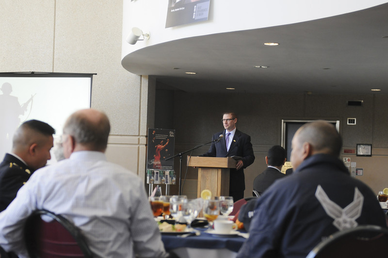 Chief of Staff Frank Neville speaks during the annual Veterans Day Luncheon on November 9, 2012.