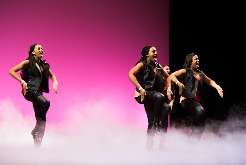 The National Pan-Hellenic Council presents their annual Step Show during Greek Week. The performances feature different fraternities and sororities, along with a few special guests.  Photo by Craig Bisacre/Creative Services/George Mason University