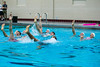 George Mason sororities and fraternities compete in Aquatic Night at the Aquatic and Fitness Center. The competition consist of team synchronize swimming and relay races. Aquatics Night is an annual competition during Greek Week. Photo by Craig Bisacre/Creative Services/George Mason University edit