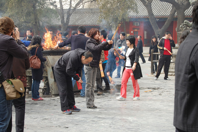 Buddhist Worshipers in Xian