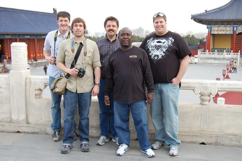From left to right = Matt Tuggle, Patrick Seibold, Jim Guyre, Van McGilberry, Steve Willick