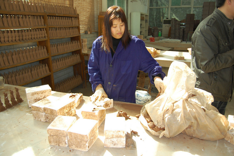 Molds used to produce clay models of the Terra Cotta Warriors
