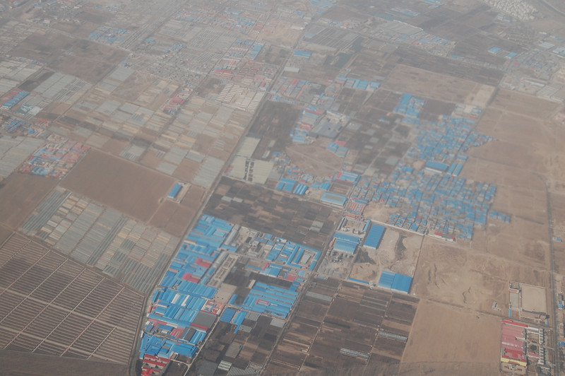 Viewing Multiple factories as we land in Beijing