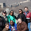 Partial group photo on the Great Wall of China