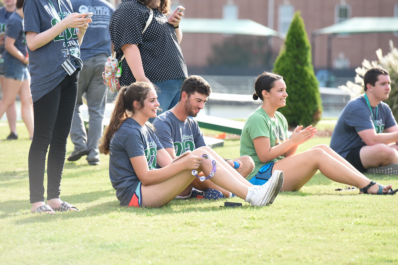 Students kick-off Week of Welcome with a cookout and games before the Welcome Rally in Centennial Center.