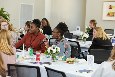 Students, alumni, faculty and staff participated in the Women's Leadership Conference in March 2020.