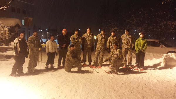 ROTC-Snowshoeing Activity