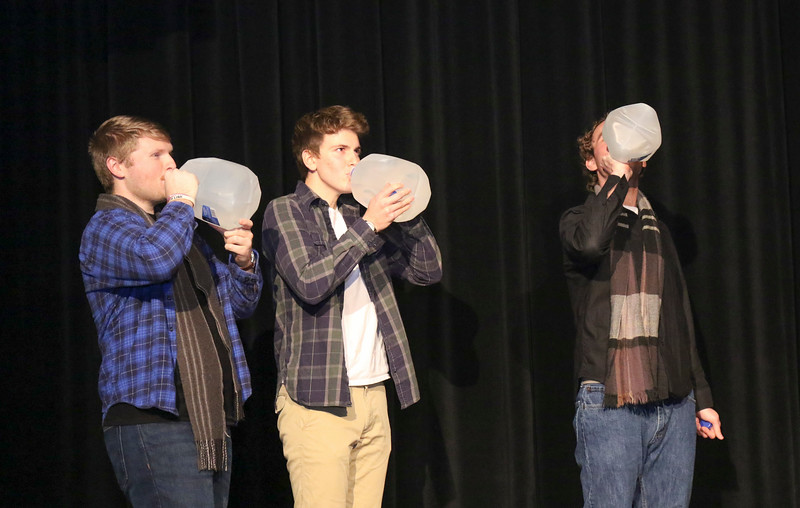 8th Floor Improv held a comedy show in the Ohio Union's U.S. Bank Conference Theater, on Friday, January 20th, 2017. (Hudson Sharrock / Ohio State University, Office of Student Life)