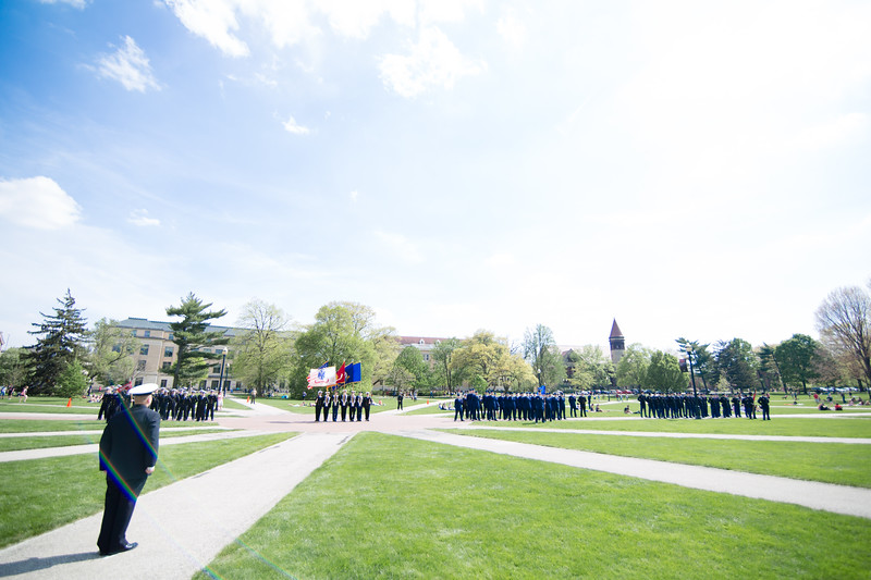 2017 ROTC parade and officer ceremony