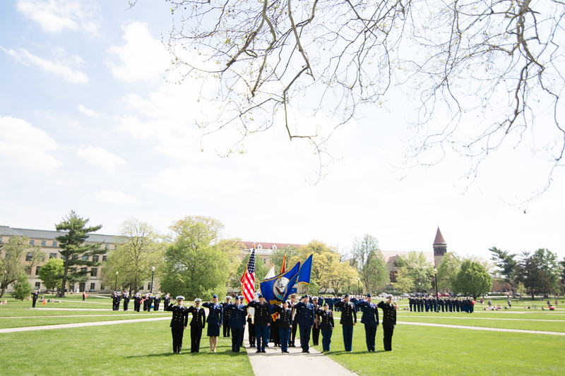 ROTC parade and officer ceremony