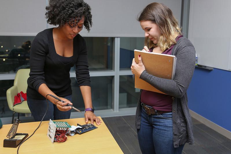 WEGC Networking Night took place at the CBEC on Tuesday, January 17th, 2017. (Nicole Badik/ Ohio State University, Office of Student Life)