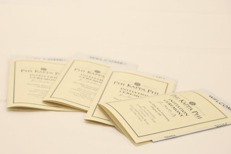 2018 Phi Kappa Phi Initiation Ceremony