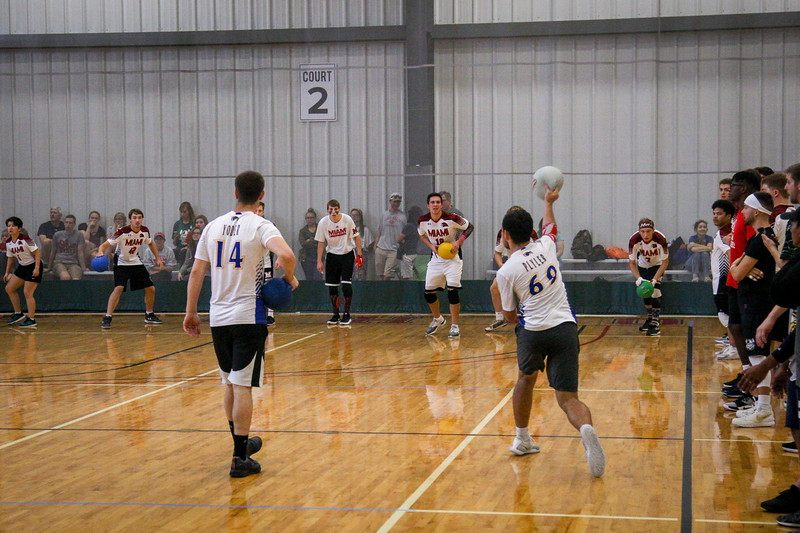 Dodgeball teams from OSU and other universities around Ohio compete against each other at a tournament held at the Adventure Recreation Center in Columbus. Photos by Joseph Thompson (Ohio State Office of Student Life)