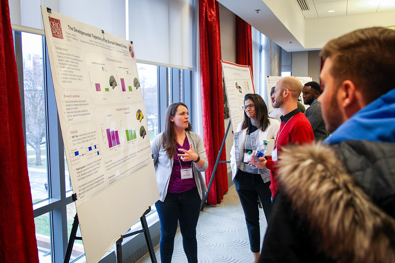 The Center for Cognitive and Behavioral Brain Imaging's research day and poster presentations. Photos by Joseph Thompson (Ohio State Office of Student Life)