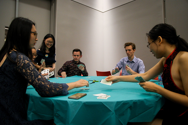 Students attend Crazy Rich Asians Game Night at Curl Market. Photos by Joseph Thompson (Ohio State Office of Student Life)