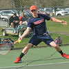 John Wills of Brookdale Community College in action against Ocean County College on Monday, April 28, 2014. /Russ DeSantis