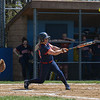 Cassidy Brzozowski (22) of Brookdale hits the ball. The Brookdale Community College softball team beat Ocean County College in the morning game of the Region XIX softball tournament held at Middlesex County College in Edison on Saturday, May 3, 2014./Russ DeSantis Photography and Video, LLC