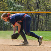Brookdale Keara Homan scoops up a ground ball. The Brookdale Community College softball team beat Ocean County College in the morning game of the Region XIX softball tournament held at Middlesex County College in Edison on Saturday, May 3, 2014./Russ DeSantis Photography and Video, LLC