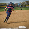 Courtney Semkewyc (15) rounds third base. The Brookdale Community College softball team beat Ocean County College in the morning game of the Region XIX softball tournament held at Middlesex County College in Edison on Saturday, May 3, 2014./Russ DeSantis Photography and Video, LLC