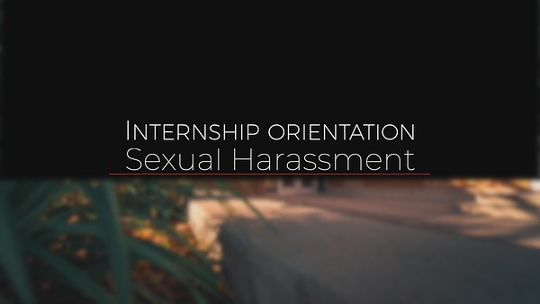 Sexual Harassment  edit B