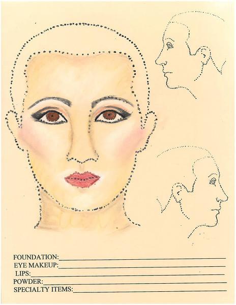 Feminine makeup
