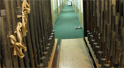 Sawyer House Corridor (old West 2) seen from Swell Organ