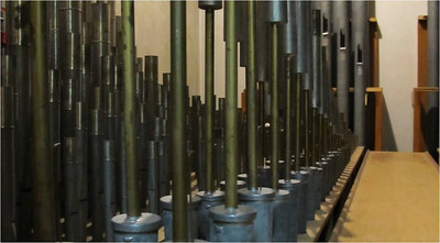 Swell Organ Reed Pipes