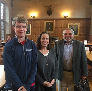 Will Osborne '20 with Noelle Leonard and Bill Gurney