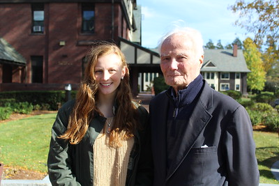 Summer Hornbostel '18 (Brantwood 2016 and 2017) with her grandfather, Tish Rand '44 (Brantwood 1943).
