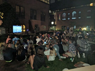 Watching the Pats game at orientation 9.7.17