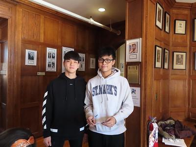 Brian Kim'22, Oliver Tian'21
