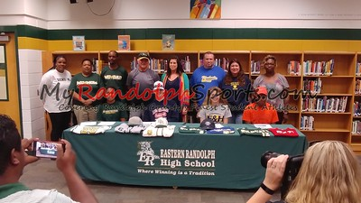 4/19/2018 Eastern Randolph Athletic Signings (Landon Smith, Taylor Hatchett, Marion Goins, Nicole Cox)