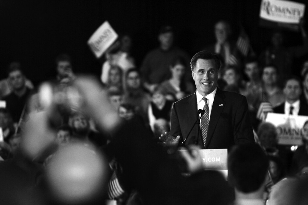 March 5, 2012 – Mitt Romney speaks after a Super Tuesday victory in Massachusetts at the Copley Westin in downtown Boston.