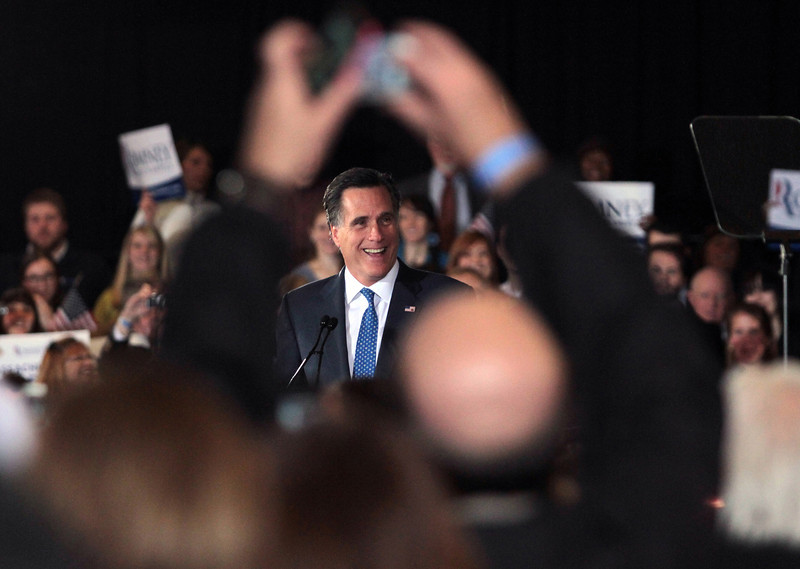 March5, 2012 – Mitt Romney speaks after a Super Tuesday victory in Massachusetts atthe Copley Westin in downtown Boston.