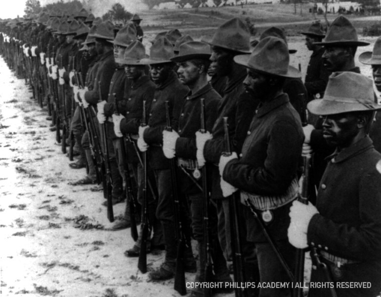 The Spanish American War swelled the ranks of the American military.  Walter Pinchback, Class of 1893, one of the few African-American students at Andover in the late nineteenth-century, served as an officer leading a company of black troops fighting in Cuba in 1898.