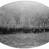 Hundreds of Andover alumni fought in the Civil War, the vast majority with the Union.  When war broke out in 1861, Andover students organized their own cadet company, <br /> the Ellsworth Guards, shown here marching on the Great Lawn.