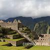 A panorama of Machu Picchu.