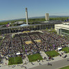 Aerial images from The University at Albany's 170th Commencement held on Sunday, May 18, 2014. Photographer: Paul Miller