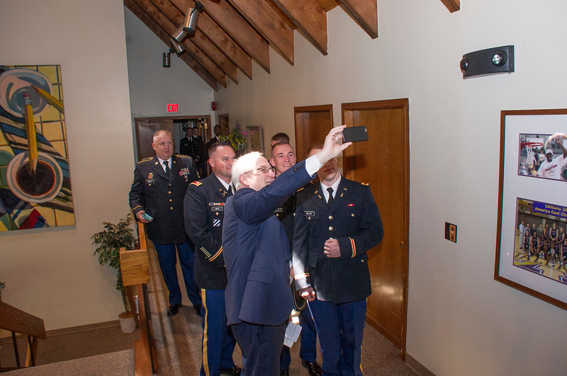 Mohawk Reserve Officers' Training Corps Commissioning ceremony held at the Alumni House. Photo: Mark Schmidt