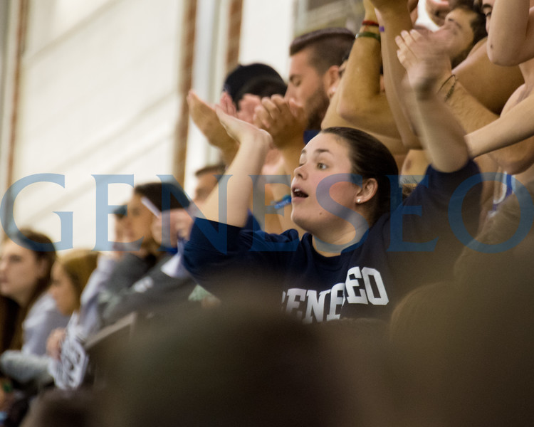 Fall 2017 students in the stands cheering on the Ice Knights and genes Pep Band photos by Theo Liu
