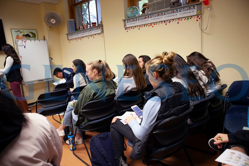 Bilingual Bingo, a night students can practice their Spanish through participating in Bingo and raise money for children in Guatemala with Common Hope. Photos by Udeshi Seneviratne