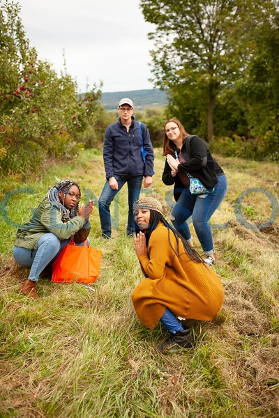 Students from Tesla and Global House go apple picking to celebrate the start of fall. Photos by Udeshi Seneviratne