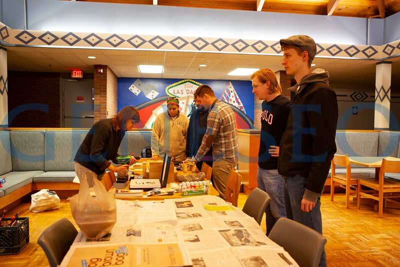 Nature Walk Club and Karleen West's Global Environmental Politics class team up to build native bee houses