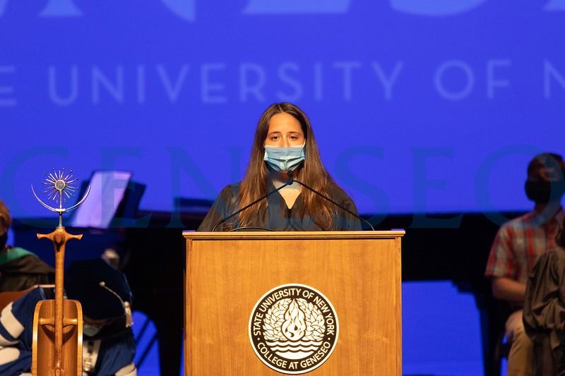 Student Association President Laura Benjamin '22