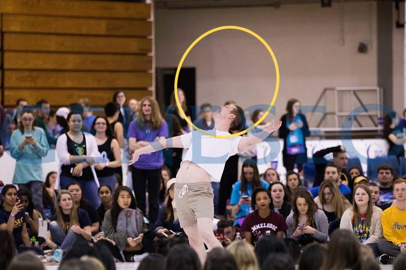 Ben Spaid '17 hoola-hoop dance