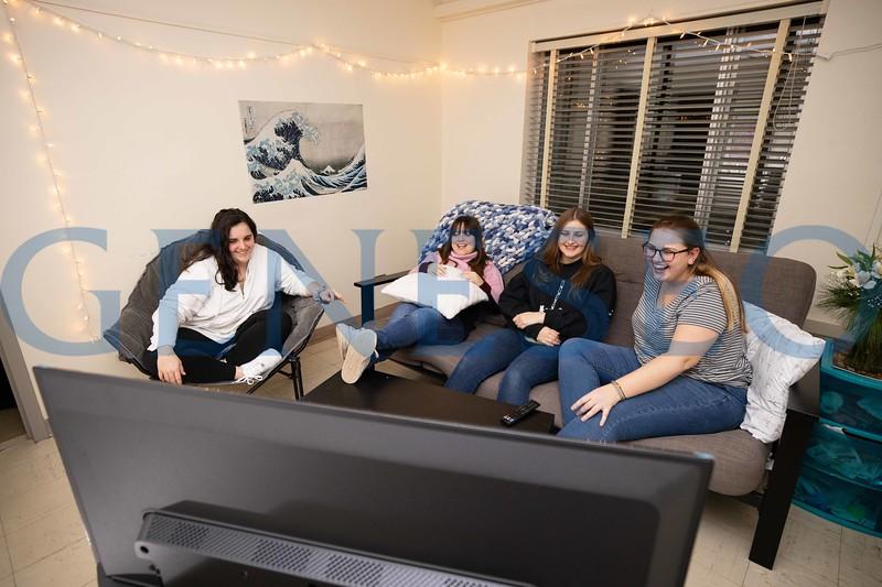 Left to right: Gianna Amico '21 Dale DeNunzio '21 Bridgette Sroka '20 Christina Schuppert