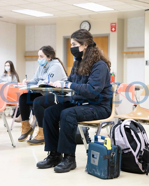 Kaylee Hausrath '21 in her physical chemistry class in Newton Hall