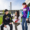 student groupings of happy smiling engaged students around the Main Campus with fall color photo: Mark Schmidt
