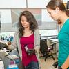 Ph.D. student Leila Kokabee (Pasteur Institute, Tehran) and intern Lindsay Cheu (Johns Hopkins). Photo: Mark Schmidt
